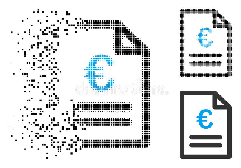 被分解的映象点半音欧洲发货票象 向量例证