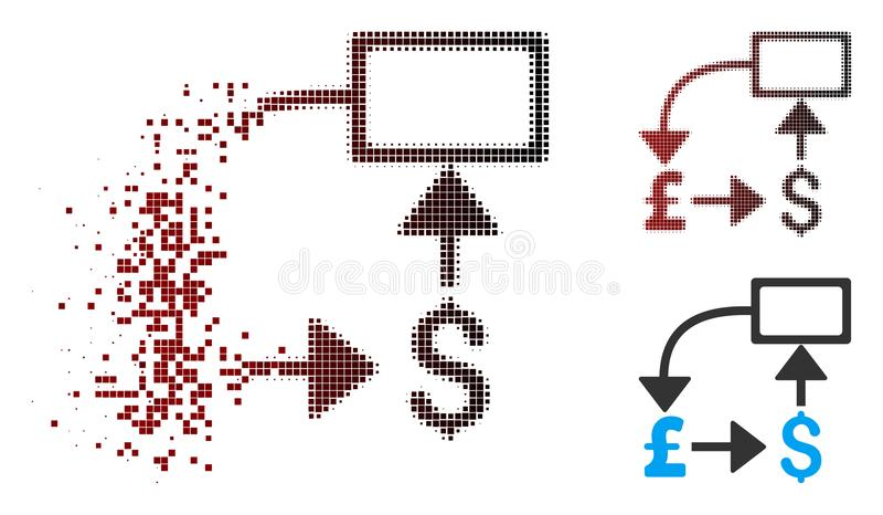 被分解的映象点半音磅美元流程图象 皇族释放例证