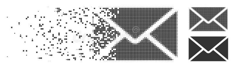 被分解的映象点半音邮件信封象 向量例证