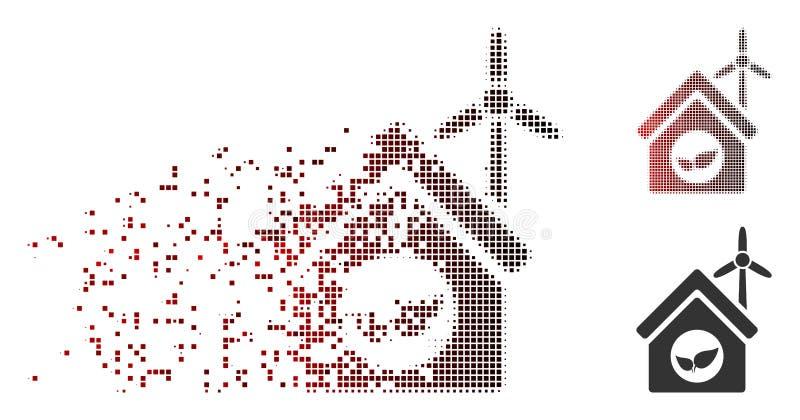 被分解的映象点半音Eco房屋建设象 库存例证