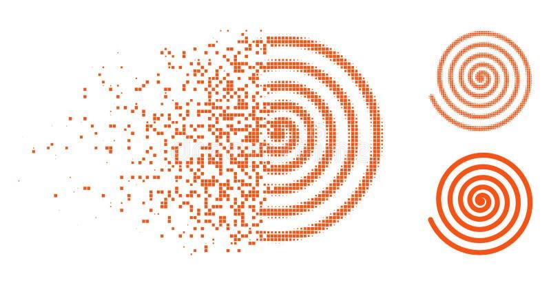 被分解的被加点的半音催眠状态象 向量例证