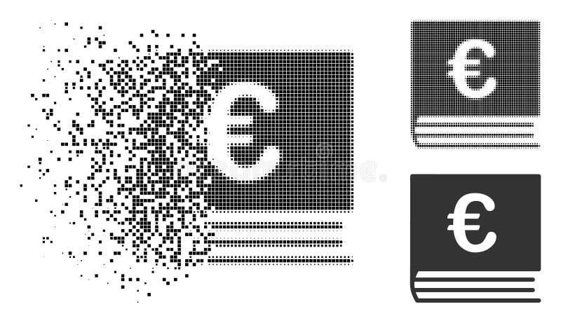 被分解的被加点的半音欧洲簿记象 库存例证