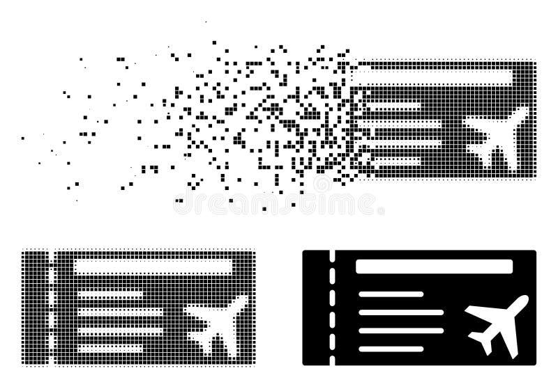 被分解的被加点的半音Airticket象 皇族释放例证
