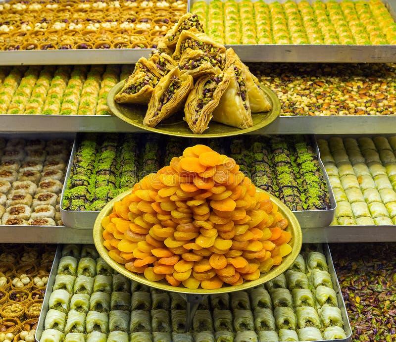 被分类的土耳其快乐糖 库存图片