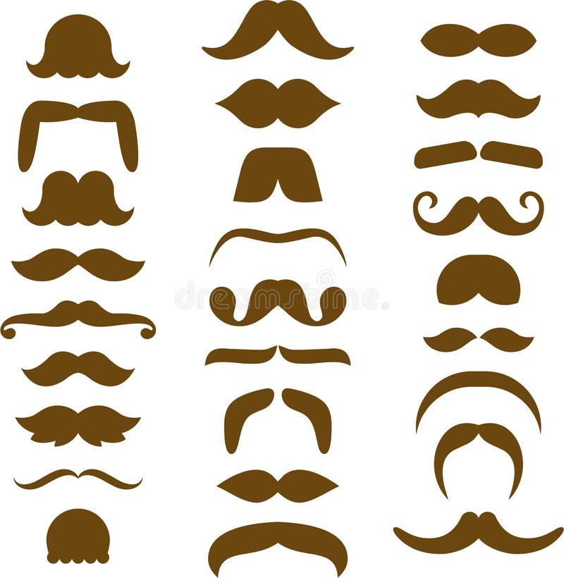 被分类的布朗髭剪影 皇族释放例证