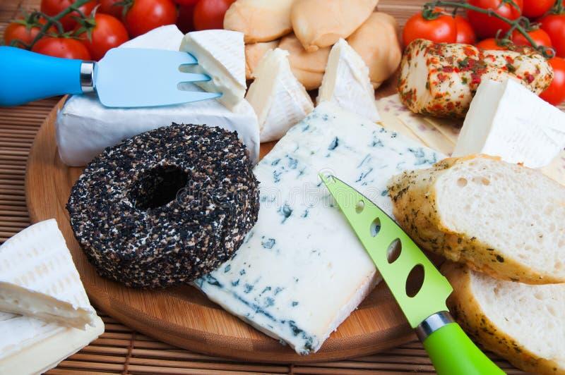 被分类的干酪 免版税库存照片