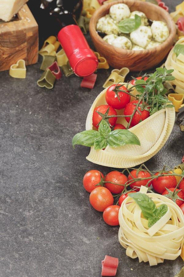 被分类的意大利面食 免版税库存图片