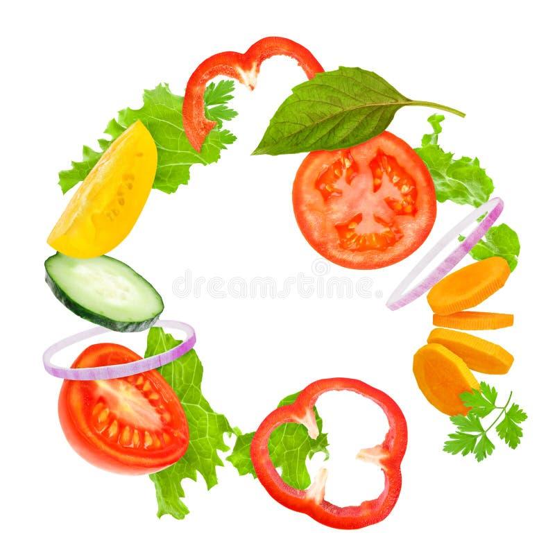 被分类的新鲜蔬菜 库存图片