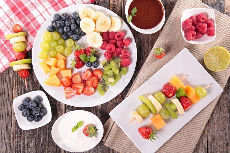 被分类的果子和垂度 免版税库存照片