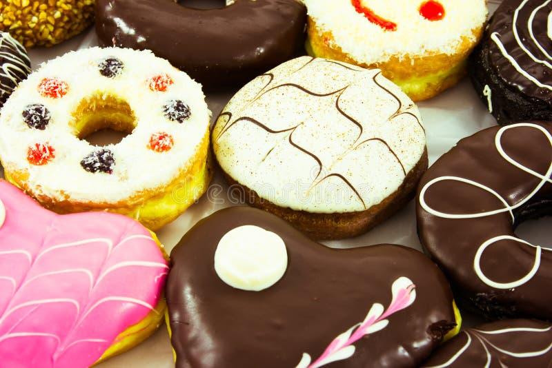 被分类的甜油炸圈饼 免版税库存照片