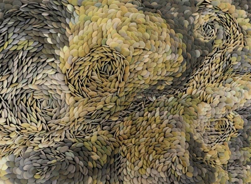 被分类的石小卵石用不同的颜色 免版税图库摄影
