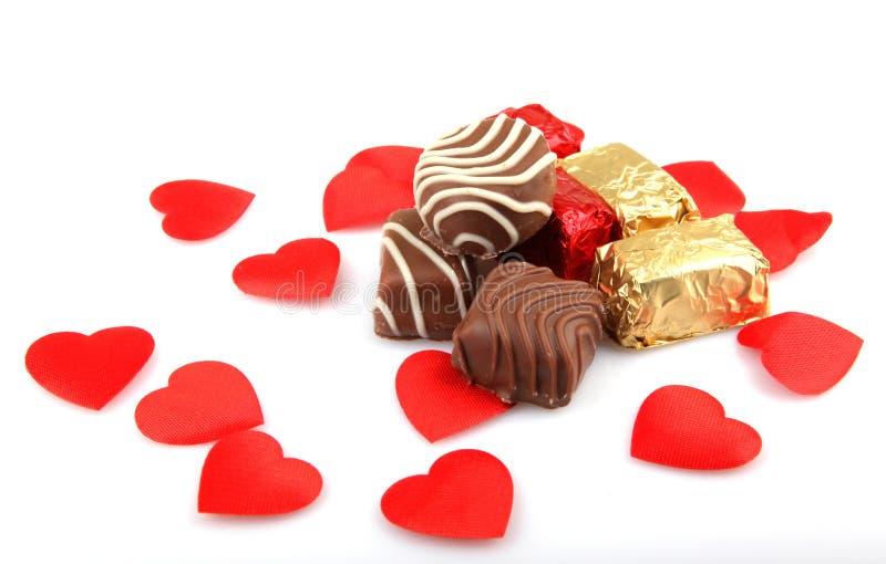 被分类的美好的巧克力 免版税库存照片