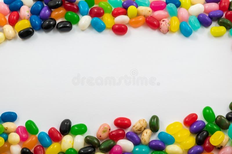 被分类的软心豆粒糖边界 图库摄影