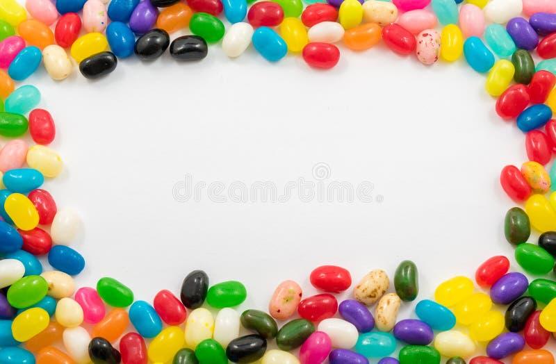 被分类的软心豆粒糖边界 免版税图库摄影