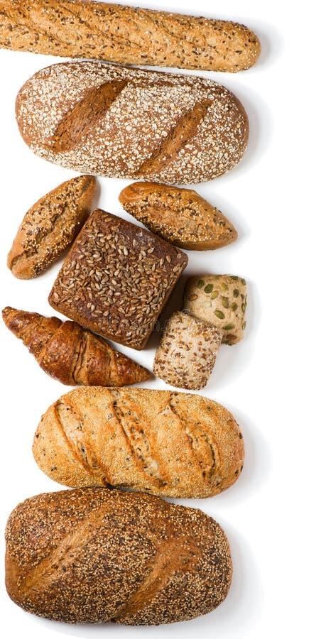 被分类的面包,看法从上面 库存照片