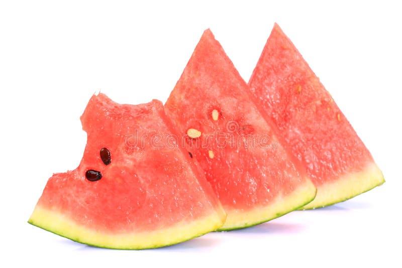 被切的ââwatermelon 免版税库存图片
