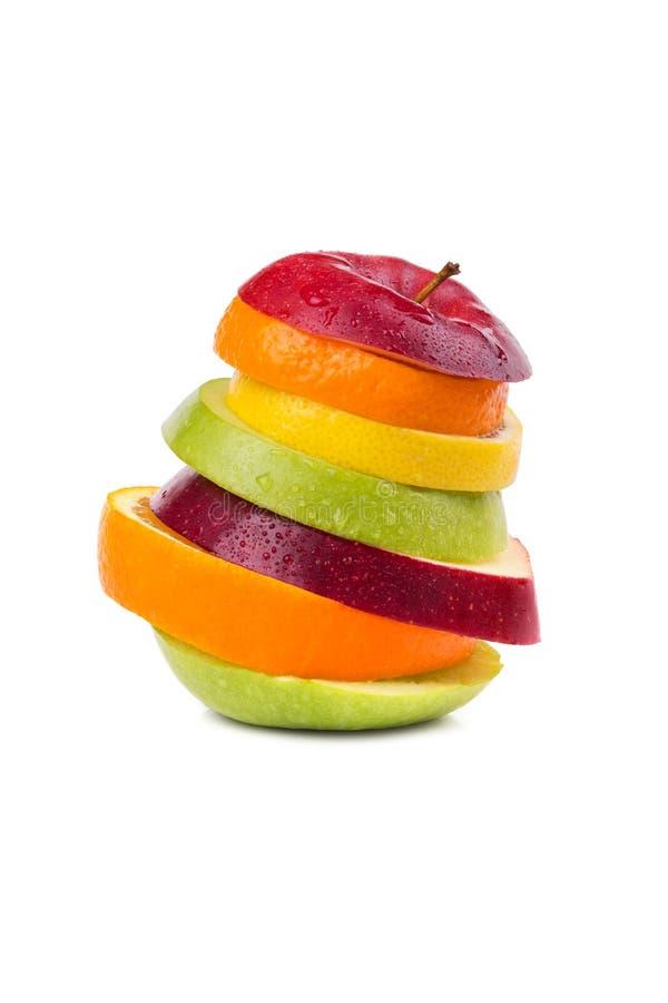 被切的果子混合 库存图片