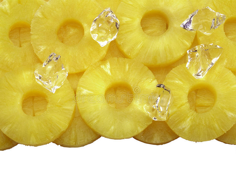 被切的菠萝来回 图库摄影