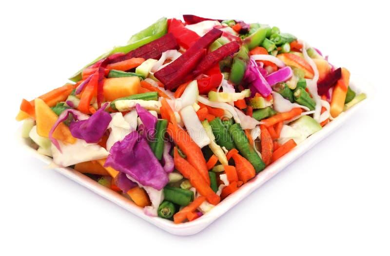 被切的蔬菜 免版税库存照片
