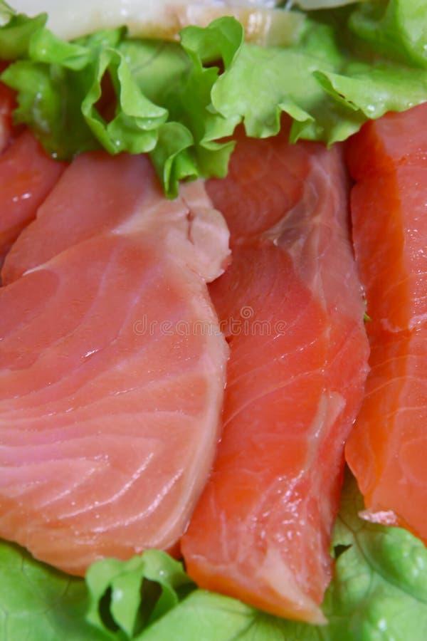 被切的鳟鱼 免版税库存照片
