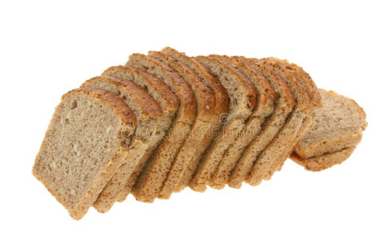 被切的2面包黑暗可口 免版税库存照片