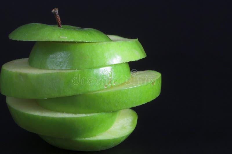 被切的Apple 免版税图库摄影
