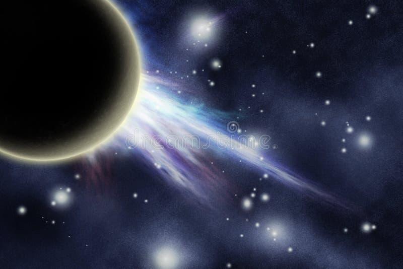 被创建的数字式starfield 向量例证