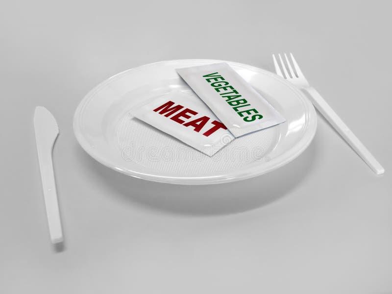 被制造的食物将来半 库存照片