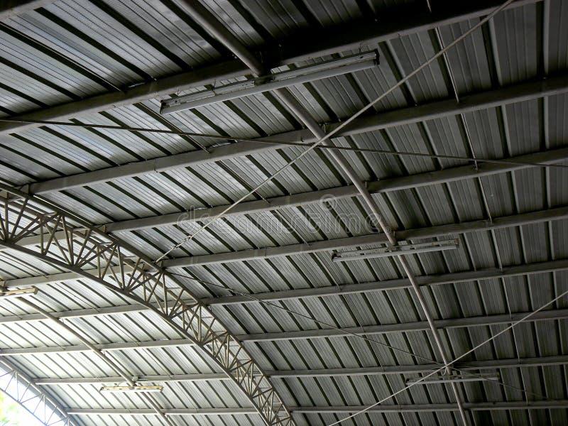 被刺激的金属屋顶 免版税库存图片