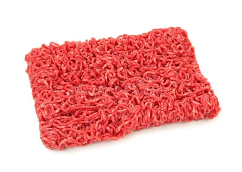 被剁碎的牛肉 库存图片