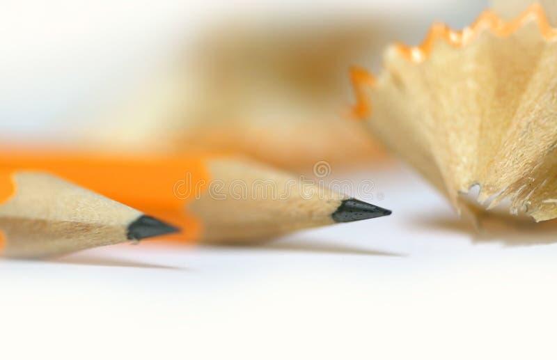 被削尖的铅笔 免版税库存图片