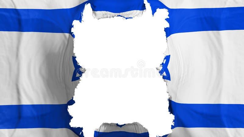 被剥去的以色列飞行旗子 向量例证