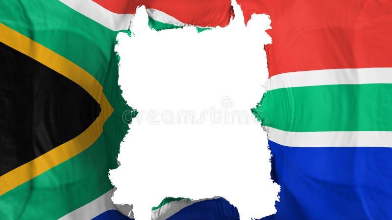 被剥去的南非飞行旗子 皇族释放例证