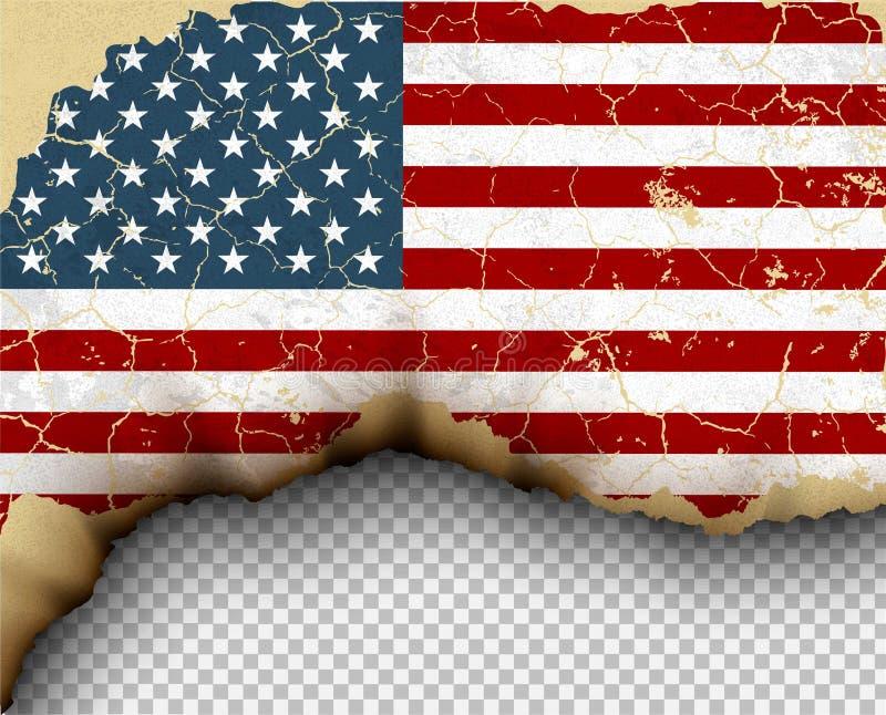 被剥去的旗子国家模板被撕毁的纸 皇族释放例证