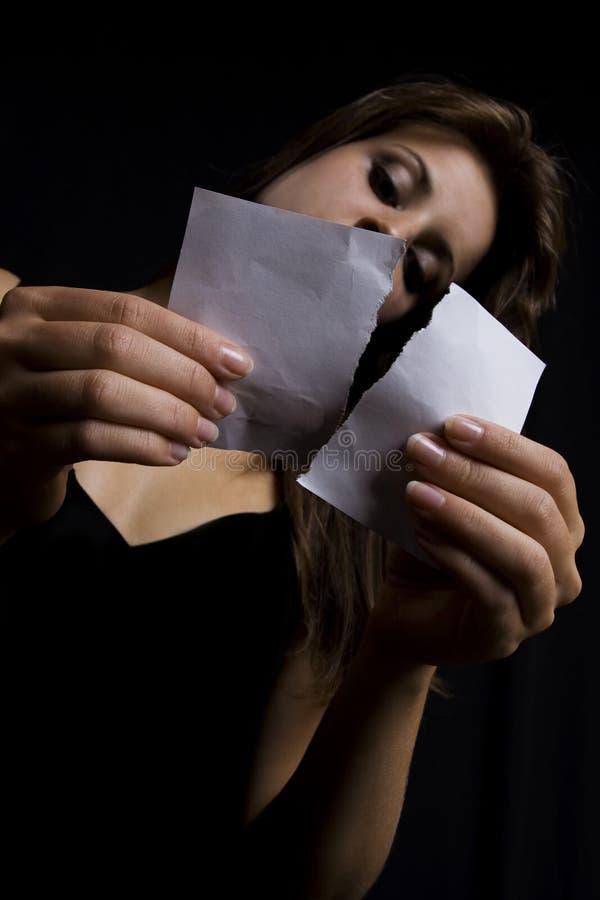 被剥去的纸张 免版税库存图片