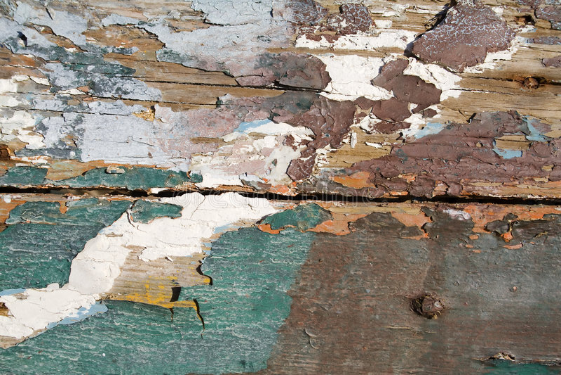 被剥皮的油漆 库存照片