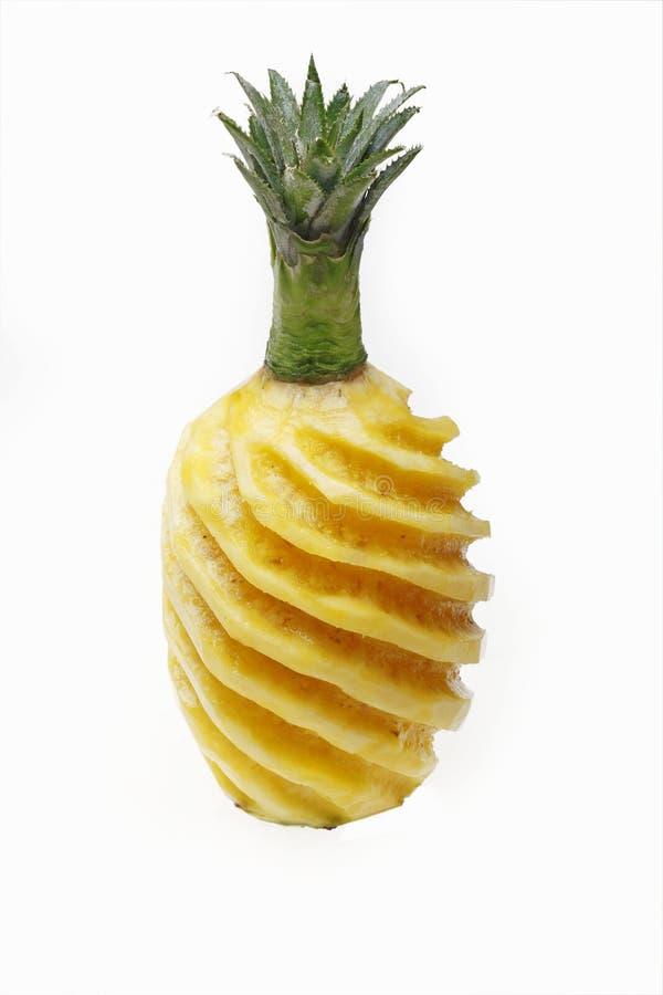 被剥皮的菠萝 免版税库存图片