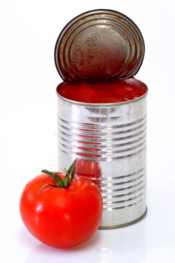 被剥皮的蕃茄 库存照片