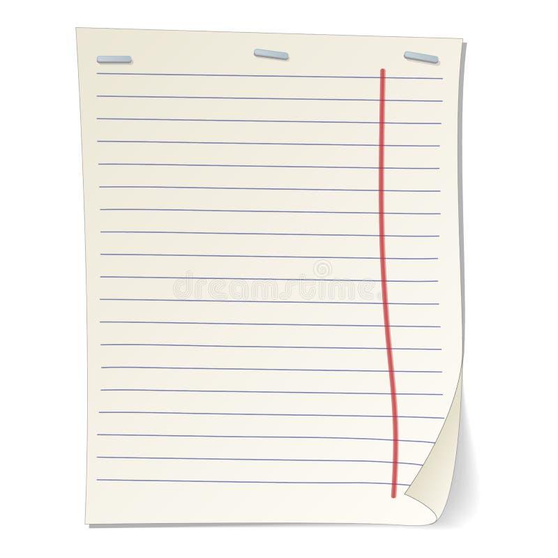 被剥离的笔记本纸动画片例证 皇族释放例证