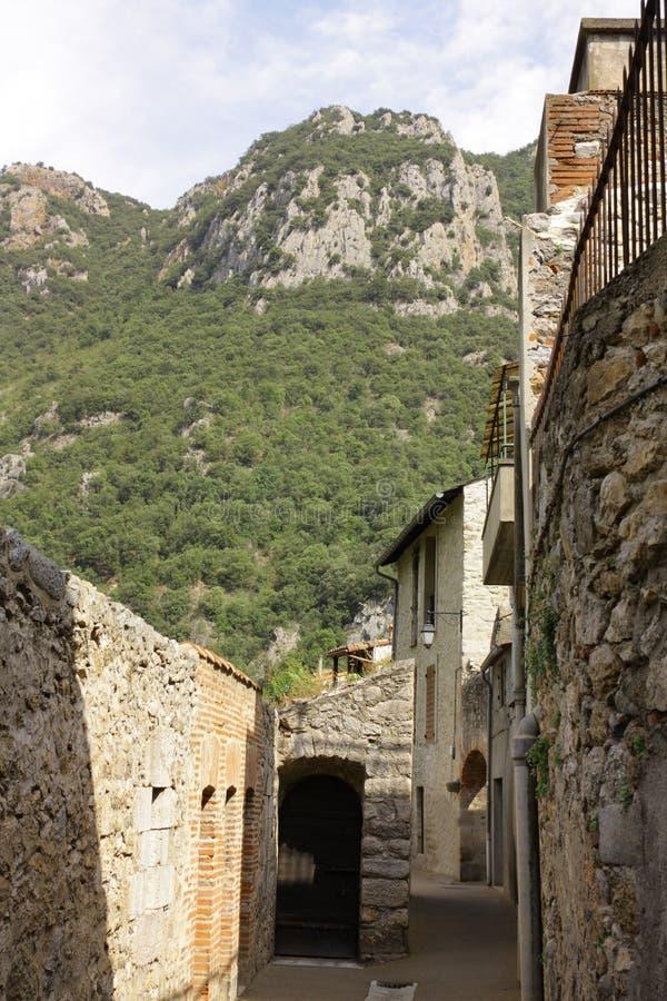 被加强的市Villefranche de Conflent在比利牛斯Orientales,法国 库存图片