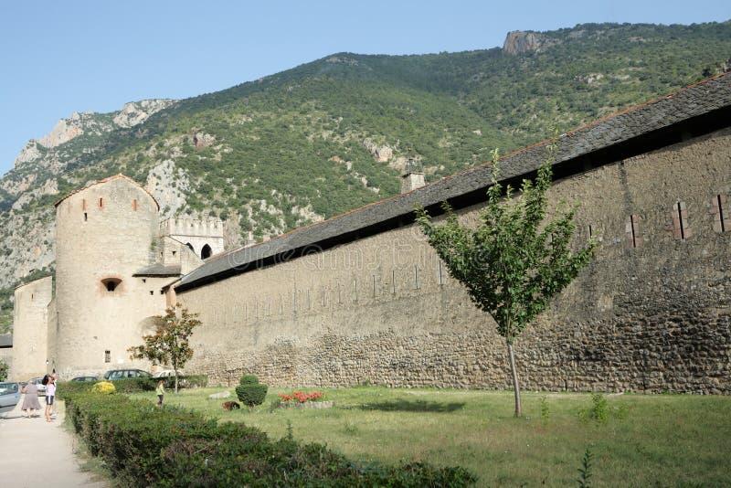 被加强的市Villefranche de Conflent,法国 免版税库存图片