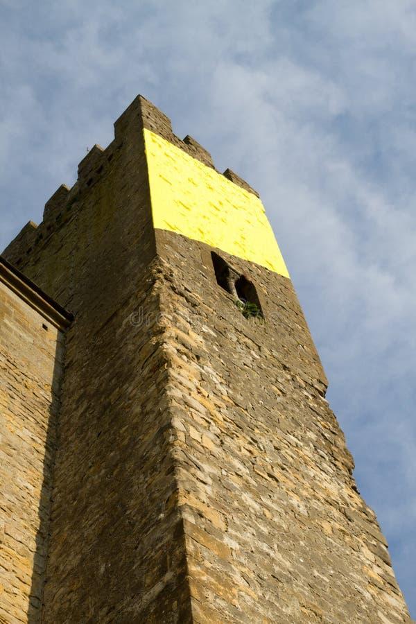 被加强的法国市卡尔卡松 库存图片