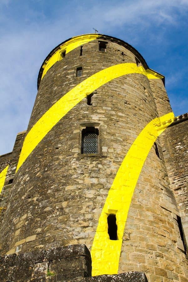 被加强的法国市卡尔卡松 免版税库存图片