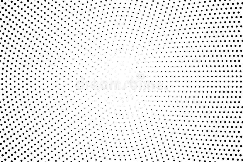 被加点的减速火箭的背景,与小点,点,圈子,回合的盘区 可笑的样式 黑白颜色 皇族释放例证
