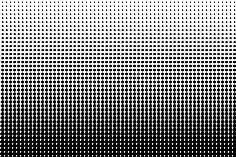 被加点的减速火箭的背景,与小点,点,圈子,回合的盘区 可笑的样式 黑白颜色 向量例证