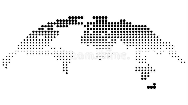 被加点的半音地图 库存例证