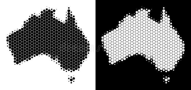 被加点的半音澳大利亚地图 皇族释放例证