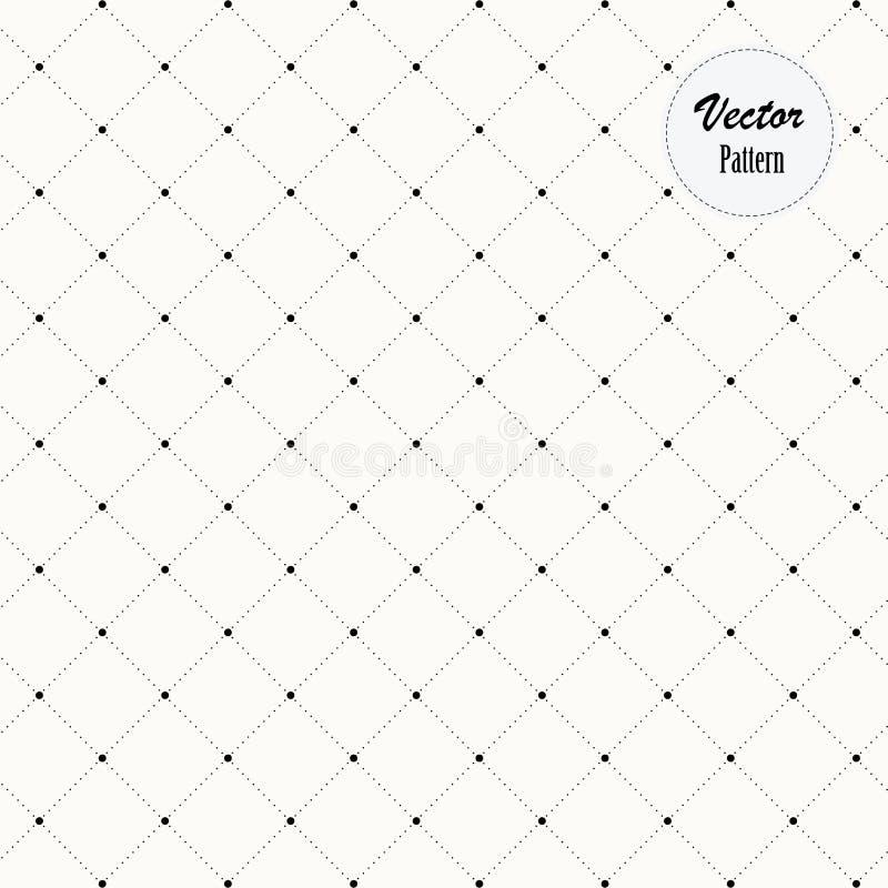 被加点的单色时髦的几何金刚石形状样式,传染媒介 在其中每一个的装饰的抽象星垄断 皇族释放例证