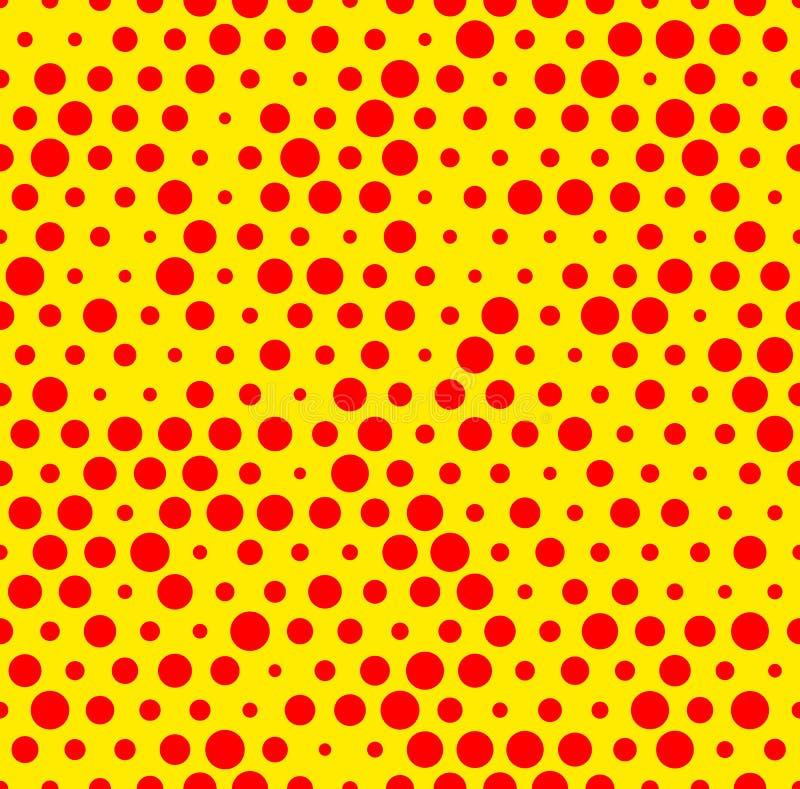 黄色点_被加点的反复性的popart喜欢duotone样式 有斑点的红色黄色点彩派