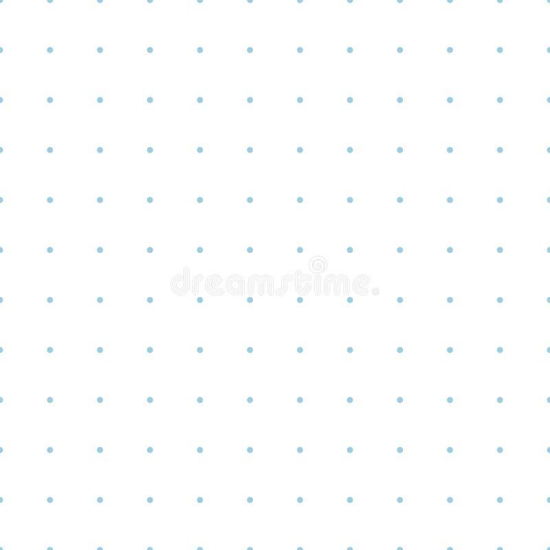 被加点的栅格座标图纸无缝的样式 向量例证